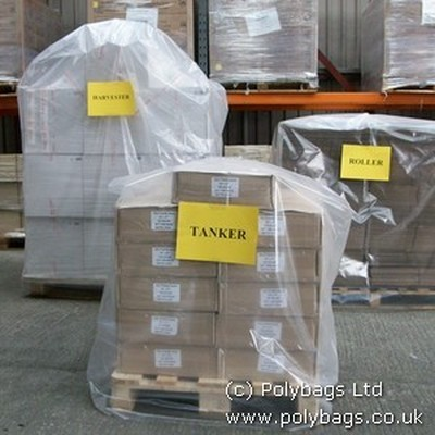 Shrink pallet covers